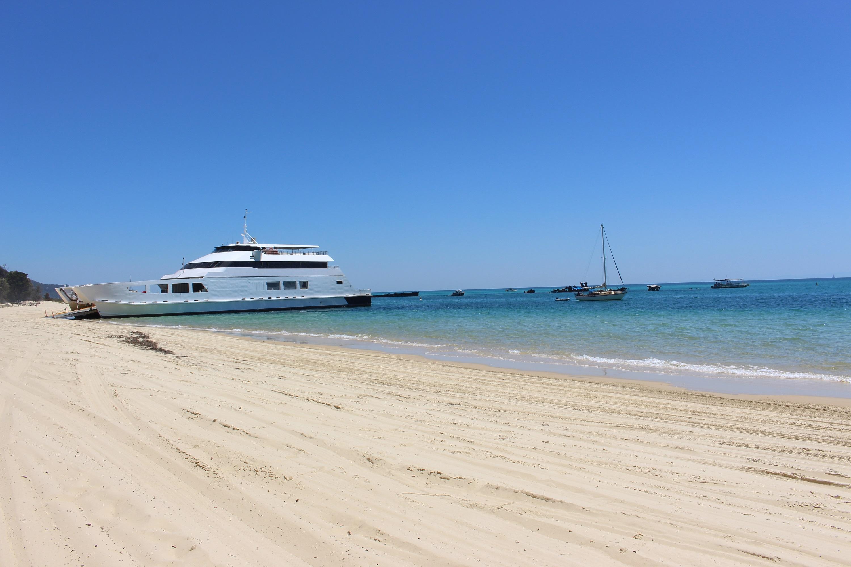 Micat vehicle ferry to Banyandah Waters Beach House Tangalooma Moreton Island